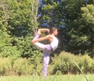 dancers pose, heart opener